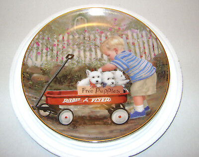 Puppy Love By Donald Zolan Radio Flyer Limited Edition Collector Plate A8924