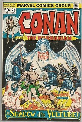 Conan the Barbarian #22 Marvel Bronze Age (1973) Comic FN+/VF- (Barry Smith Art)