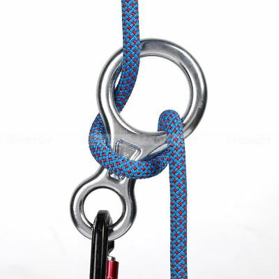 35KN Rescue Figure 8 Descender Rappel Device For Rappelling Belaying Climbing