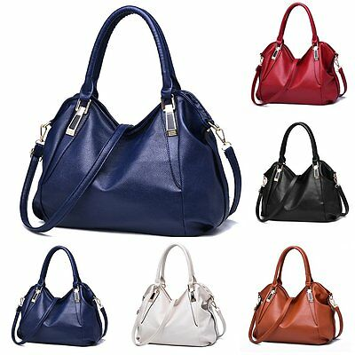 Women Leather Zipper Handbag Satchel Messenger Cross Body Bag Shoulder Bag Purse