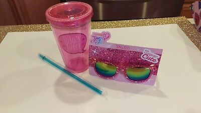 Exclusive Jojo Siwa Sunglasses And Cup/tumbler Not Sold In Stores Hot!!