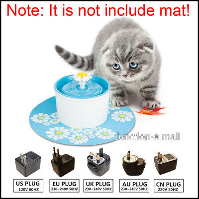 Electric Automatic Pet Water Fountain Dog/Cat Drinking Filter Bowl US EU UK AU