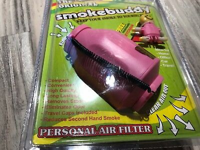 🔥Original Smoke Buddy Personal Air Purifier Cleaner Filter Removes Odor Pink🔥