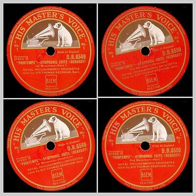 "ROYAL PHILHARM ORCH. & BEECHAM Debussy: ""Printemps"" Symphonic Suite 78rpm  GS682"