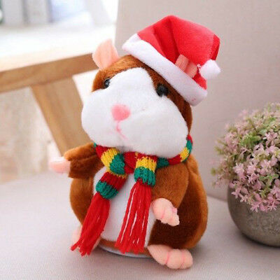 Talking Hamster Mouse Pet Plush Toy Cute Speak Sound Record Kids Baby Xmas GiftS