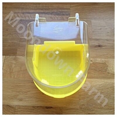 Bird Bath Yellow - Finch, Canary, Budgie Ect 13 x 13 x13 - Hook On External Cage