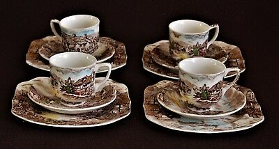 SET DI 4 TAZZINE CAFFè IN PORCELLANA JOHNSON BROS OLD ENGLISH COUNTRY SIDE