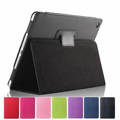 UK Smart Magnetic Leather Stand Case Cover Back for Apple iPad 2/3/4 Air1/2 Mini