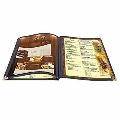 "Yescom 30 Pack 8.5""X14"" Menu Covers 3 Pages 6 Views Black Triple Book Style Cafe"