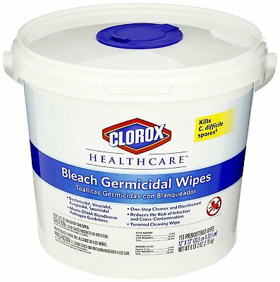 Clorox 30358 Healthcare Bleach Germicidal Wipe 110 Count