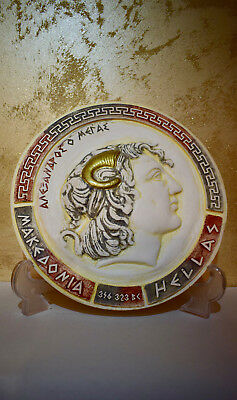 """Plate For The Wall """"alexander The Great"""" Handmade In Greece"""