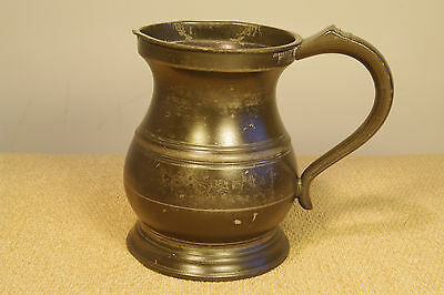 Victorian Pint Pewter Tankard by James Yates 1860 - 1882