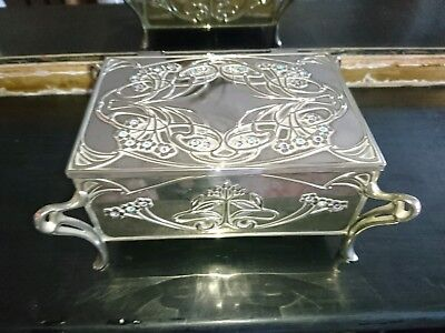 Art Nouveau Silver Plated Jewellery Box Scottish Maker Charles Horner Style !!!