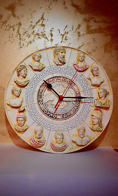 Wall Clock With Gods From The Mountain Olympus