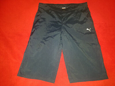 Puma    Size Xl 30    Boys Navy Blue Flat Front   Shorts   New