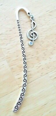 """Tibetan Silver Bookmark With  """"music"""" Note"""