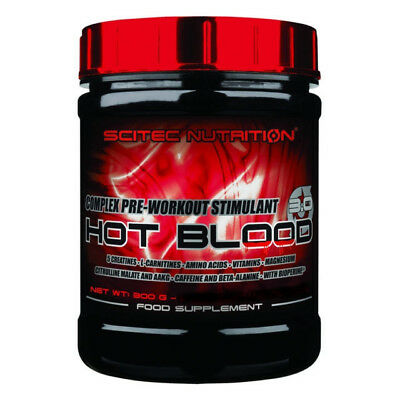 SCITEC Hot Blood 3.0 300g - PRE WORKOUT - TROPICAL PUNCH Gusto Tropicale