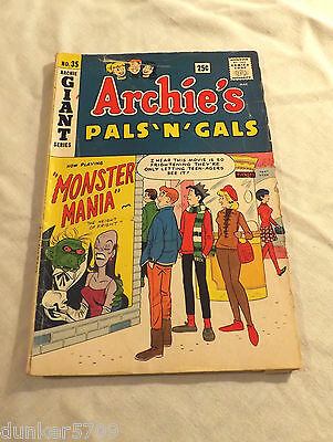 Archie - Archie Giant Series Comic #35 Winter 1965-1966 Fn/vf