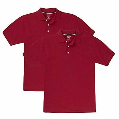 French Toast Boys' Short Sleeve Pique Polo-2 Pack New