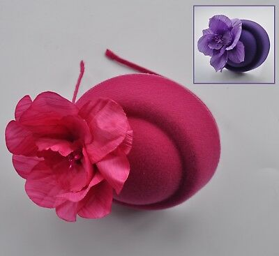 Cadbury purple or cerise hot pink mini pillbox hatinator/fascinator/headband