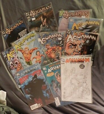 Aquaman 2003 series--11 issue comic book lot VF to NM Free shipping