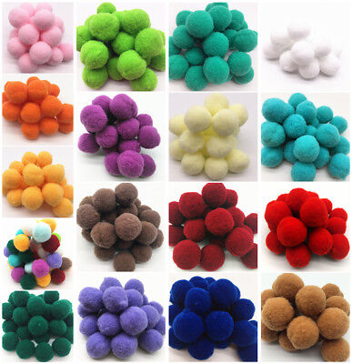 150pcs 20mm Soft Round Shaped Pompom Balls Fluffy PomPom For Kids DIY Handcraft