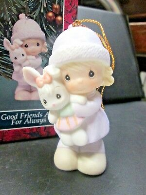 """Prec Moments 1992 Ornament, """"Good Friends Are For Always"""" 524131, G Clef, 3 1/4"""""""