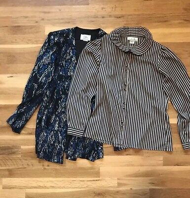 Lot of 2 80s Vintage Women's Tops Blouses Resale Vintage Shop