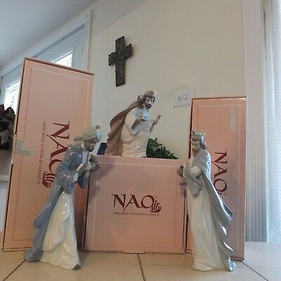 NAO by LLADRO KING BALTASAR 414 MELCHIOR 413 & GASPAR 412 MINT BOXES FAST SHIP!!