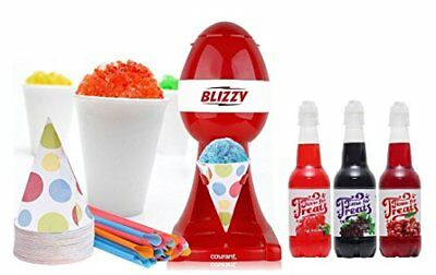 BLIZZY Snow Cone Maker Set Snow Cone Set With Syrup Flavors - Snow Cone Machine