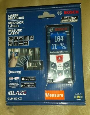 BOSCH GLM 50 CX 165ft BLUETOOTH LASER MEASURE NEW FACTORY SEALED