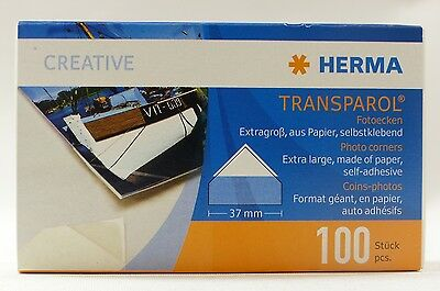 Herma Transparol self adhesive corner mounts pack of 100 (37mm corner mount)