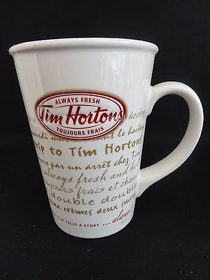 TIM HORTONS 2009 Limited Edition Coffee Mug Cup Road Trip Every Cup Logo #009