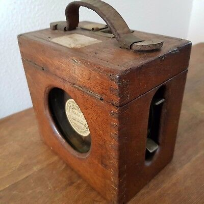 ANTIQUE TOULET Henry Martens Wood BIRD HOMING PIGEON RACING RACE TIMER CLOCK OLD