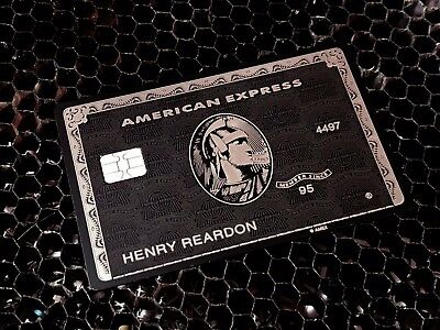 American Express Black Card - 2017 Laser Engraved - Customized -Same Day