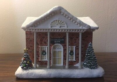 "NEW Hawthorne Village ""Christmas Village Bank"" Norman Rockwell Collection #A0704"