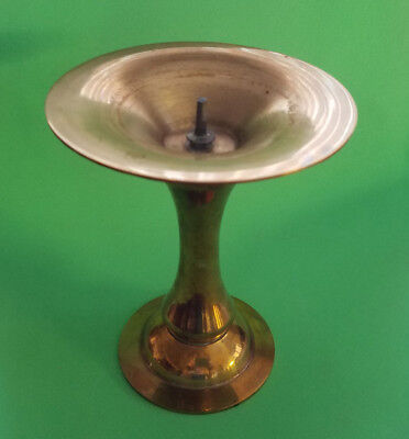 Vintage 6 Inch Tall  Brass Candle Stick Holder