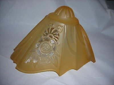 Vintage Art Deco Slip Shade for Lightolier Chandelier Consolidated Glass Co #1