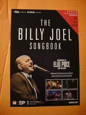 BILLY JOEL SONGBOOK - UK TOUR FLYER 2016 (ELIO PACE and his BAND)