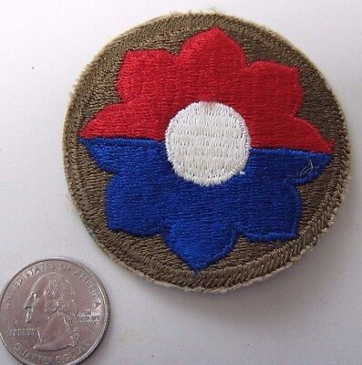Original WWII U.S. Army 9th Infantry Division Patch - World War 2