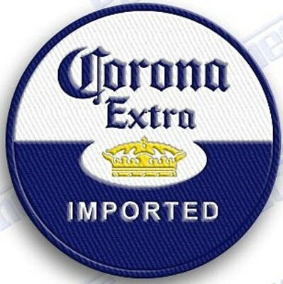 CORONA EXTRA Beer  iron on embroidered patch 2.2 X 1.8  LIME BEACH BREW