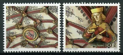 Switzerland 2017 MNH Bern Cathedral Vaulted Ceiling 500 Years 2v Set Stamps