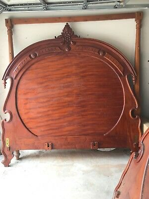 Mahogany King Size Bed Hand Carved