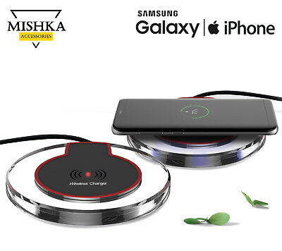 Qi Fast Wireless Charger Charging Pad per iPhone 8 X Galaxy S7 Edge S8 + Note 8