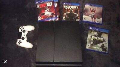 Sony PlayStation PS4 500GB- White Controller, Games, And Cords