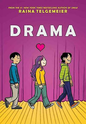 Drama by Raina Telgemeier (English) Hardcover Book Free Shipping!