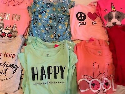 Resale Lot of 20 Girls Clothing Justice Brand Resale 18 tops plus 2 purses NWT