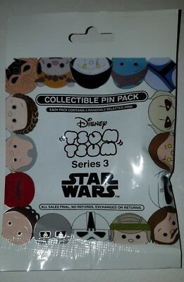 Disney Pins Tsum Tsum Star Wars Series 3 Mystery 5 Pin Pack SEALED FREE SHIPPING