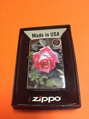 Zippo Rose NEW IN BOX FREE SHIPPING Vintage Cigarette Lighter Cigar