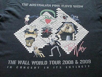 The Australian Pink Floyd Show The Wall Tour Black T Shirt Size M Medium L Large